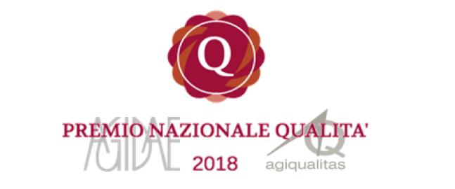 Indetto il secondo PREMIO NAZIONALE QUALITA' per l'anno 2018.