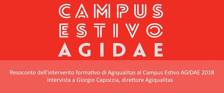 Agiqualitas presente al Campus Estivo Agidae 2018